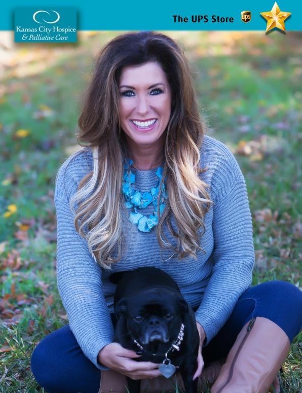Kathy Aloisio, Community Liaison, Kansas City Hospice and Palliative Care, with her dog Lola